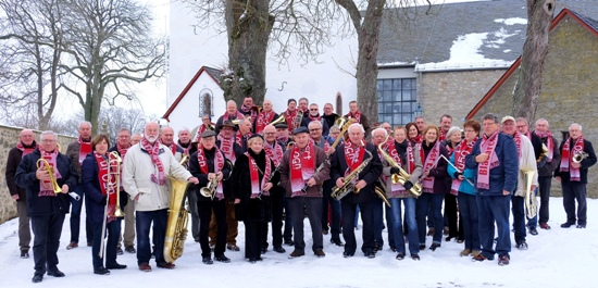 """Unter dem Motto """"Eifeler Weihnacht"""" musiziert das Blasorchester """"Ü 50 in concert"""" zugunsten der Mechernich-Stiftung. Foto: Privat/pp/Agentur ProfiPress"""