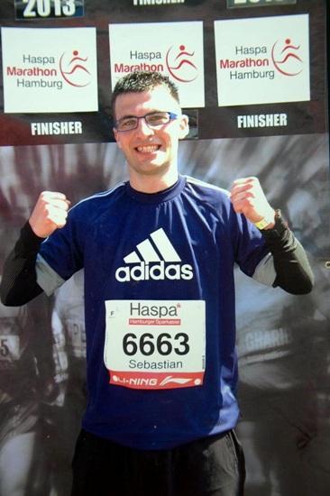 Der bislang schönste Marathonlauf des Bleibuirer war der Hamburg-Marathon 2013. Foto: Privat/pp/Agentur ProfiPress