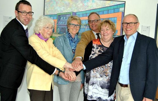 Ralf Classen, Maria Jentgen, Inge Eich, Rita Gerdemann und Pfarrer Michael Stöhr. Foto: Alice Gempfer/pp/Agentur ProfiPress